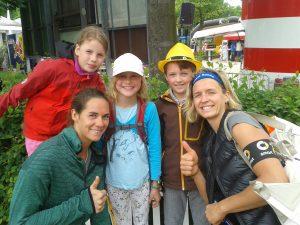 mit den Europameisterinnen Kira und Laura